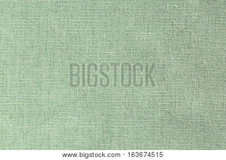 Pale Green Fabric Background With Clear Canvas Texture