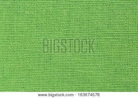 Bright Green Fabric Background Close Up