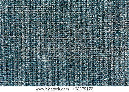 Dingy Blue Fabric Background With Clear Canvas Texture