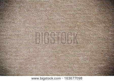 Perspective View of Beige Denim Velvet Fabric Texture Background close up horizontal Direction of Threads