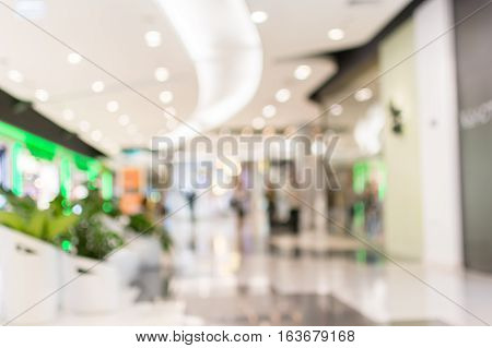 Abstract blur shopping mall and department store background ,vintage tone