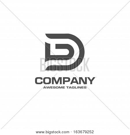 creative letter D logo. Abstract business logo design template. modern Letter D Logo template editable for your business.