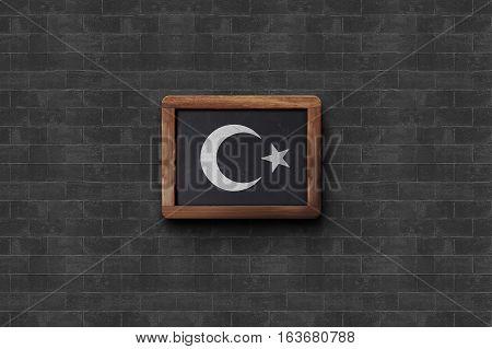 Flag Turkish Flag Design and Presentation, BlackBoard