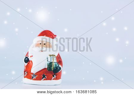 Santa Claus Stand On White Background.