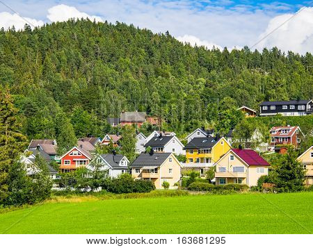 Lommedalen a rural suburbian area half an hours drive outside Oslo the capital of Norway.