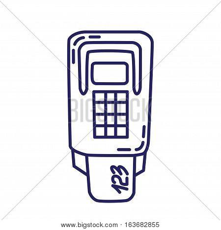 Card Terminal Line Icon