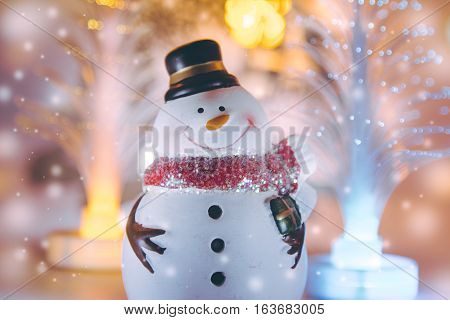 Snowman And Electric Decor For Christmas