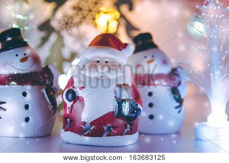 Snowman And Santa Claus Decor For Christmas
