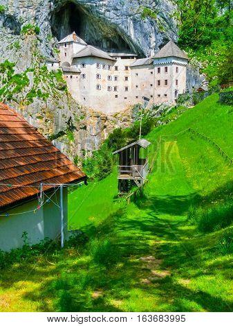 The Predjama Castle in Postojna Cave, Slovenia