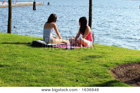 Two Girls On Picnic