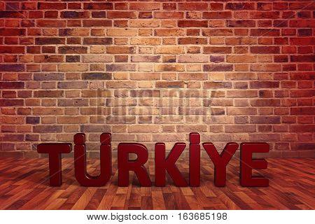 Turkey 3D Writing Work, 3D Render with Studio Media