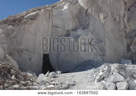 View of the gypsum quarry of Valle del Jere
