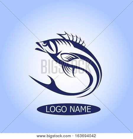 Seafood restaurant idea. Sea Signs Illustration. Logo or Icon in premium quality