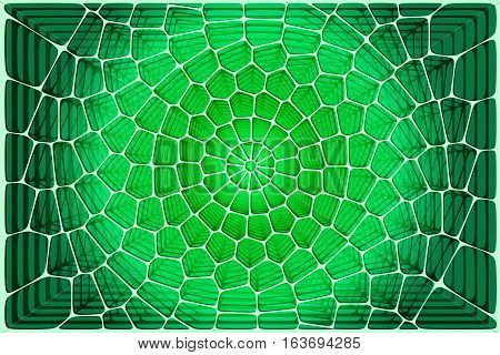 Abstract tile composition with ceramic geometric shapes in space. Abstract 3d fractals. Voronoi background. Stock vector esp 10