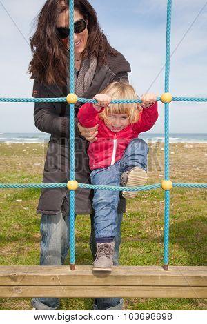 Happy Baby Climbing Rope Ladder