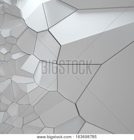 3D Rendering Illustration Of Fractured Surface.