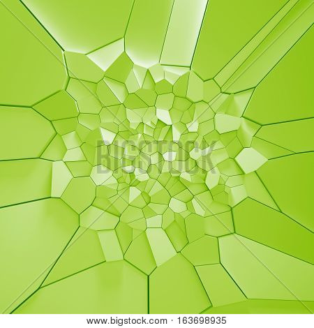 3D Rendering Illustration Of Fractured Surface.