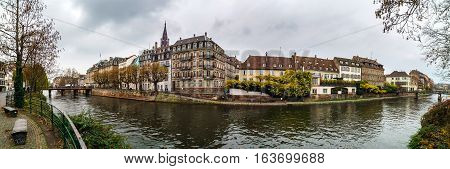 Strasbourg Panoramic View From The Riverside