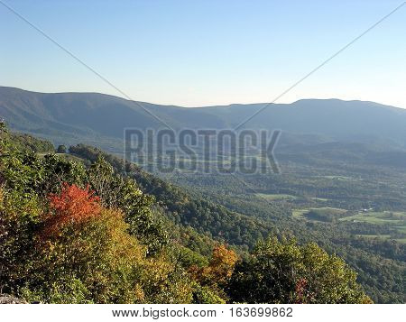 The beautiful landscape in Shenandoah National Park USA October 10 2004