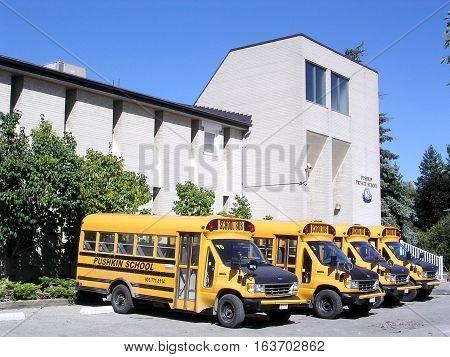 Thornhill Canada - September 18 2004: Pushkin School.