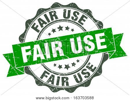 fair use. stamp. sign. seal. round. retro. ribbon