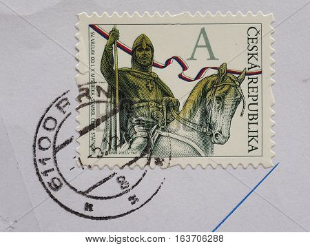 Stamp Of Czech Republic
