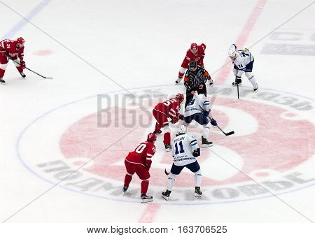 M. Aaltonen (55) And E. Kovyrshin (88) On Faceoff