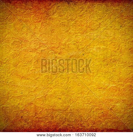 vintage aged embossed floral pattern paper texture paper background for your message