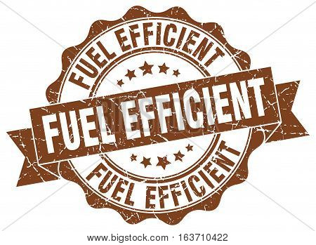 fuel efficient. stamp. sign. seal. round. retro. ribbon