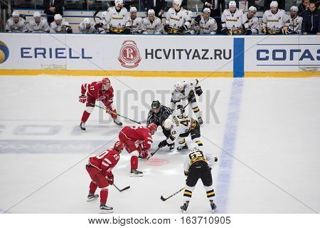 I. Magogin (48) And M. Aaltonen (55) On Faceoff
