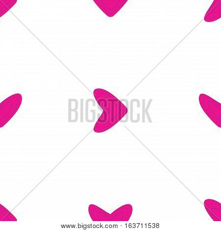 Seamless pattern with pink hearts on white background