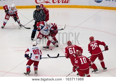 P. Kraskovsky (63) On Faceoff