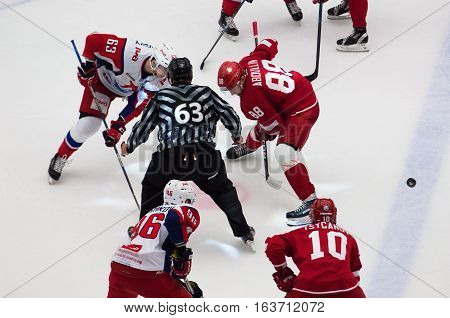 P. Kraskovsky (63) And D. Abdullin (88) On Faceoff