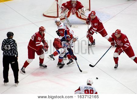 P. Kraskovsky (63) And A. Nikulin (36) On Faceoff