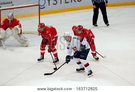 D. Kalinin (7) And I. Musatov (26) Wait A Faceoff