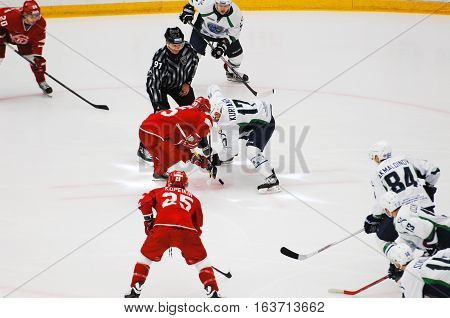 A. Kuryanov (17) And M. Aaltonen (55) On Faceoff