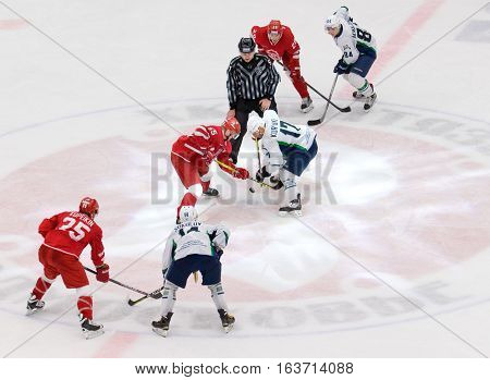 M. Aaltonen (55) And A. Kuryanov (17) On Faceoff