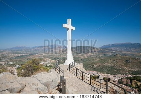 Great Crucifix In Santa Catalina Lookout Over Jaen
