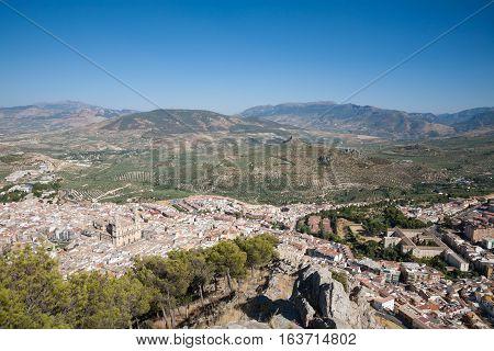 Jaen City From Santa Catalina Mountain