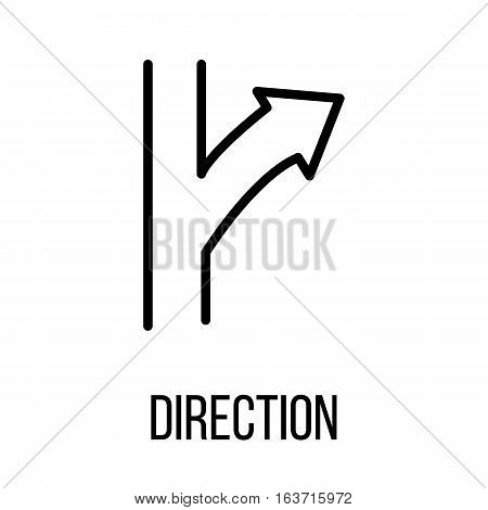 Direction icon or logo in modern line style. High quality black outline pictogram for web site design and mobile apps. Vector illustration on a white background.
