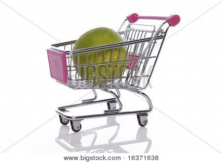 trolley with orange