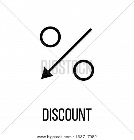Discount icon or logo in modern line style. High quality black outline pictogram for web site design and mobile apps. Vector illustration on a white background.
