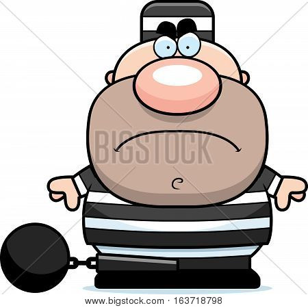 Cartoon Angry Prisoner
