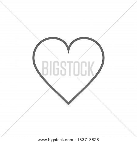 Heart icon outline vector simple isolated illustration.