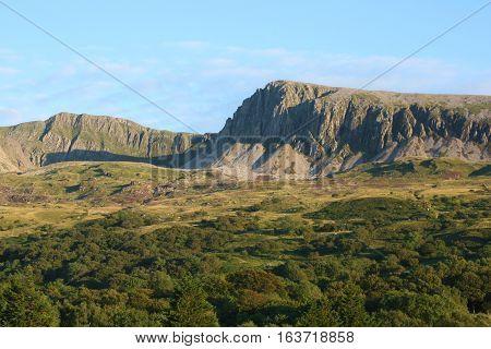 The Cadair Idris Mountain range in Wales