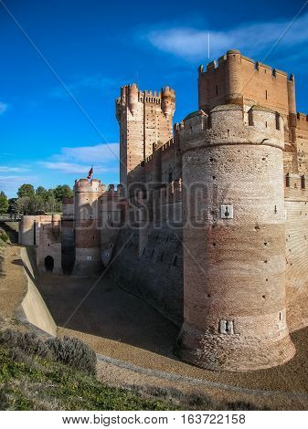 Castle De Mota In Medina Del Campo, Valladolid, Spain