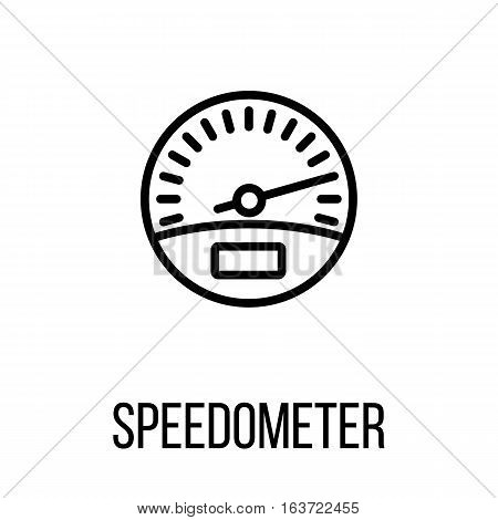 Speedometer icon or logo in modern line style. High quality black outline pictogram for web site design and mobile apps. Vector illustration on a white background.