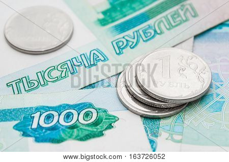 Russian rubles and thousands of rubles. finance