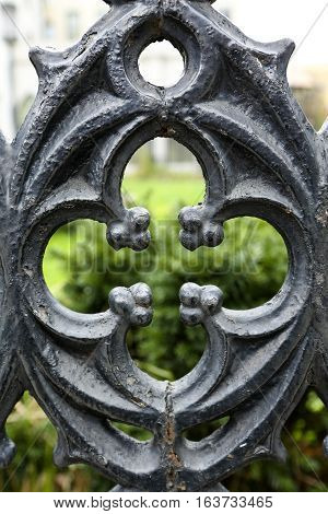 Cutout from a wrought iron fence in New York City