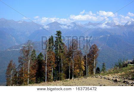 View of the ridge Psekhako Sochi Russia